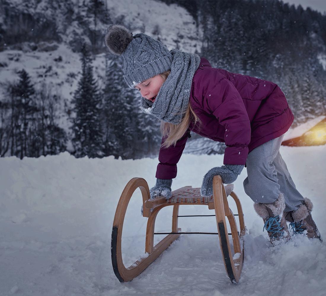 Rodeln im Winterurlaub Tirol