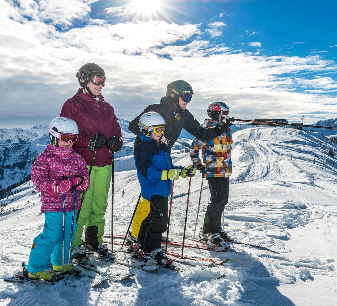 Skifahren im Aktivurlaub im Wellnesshotel Tirol