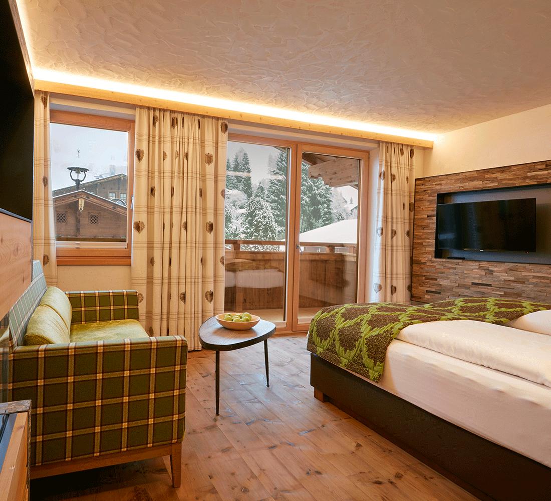 Wohnkomfortzimmer Juwel im Wellnesshotel Alpbachtal in Tirol