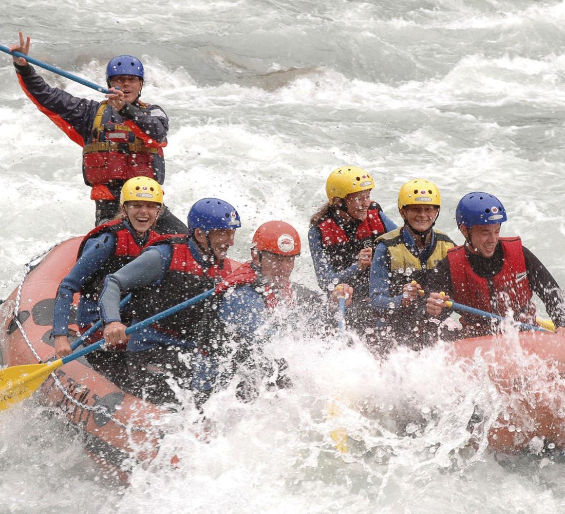 Wildwasserfahrten beim Sommerurlaub in Tirol