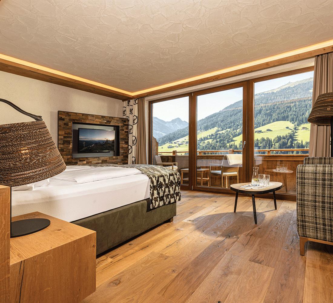 Wohnkomfortzimmer Bergzauber im Naturhotel Alpbachtal Tirol