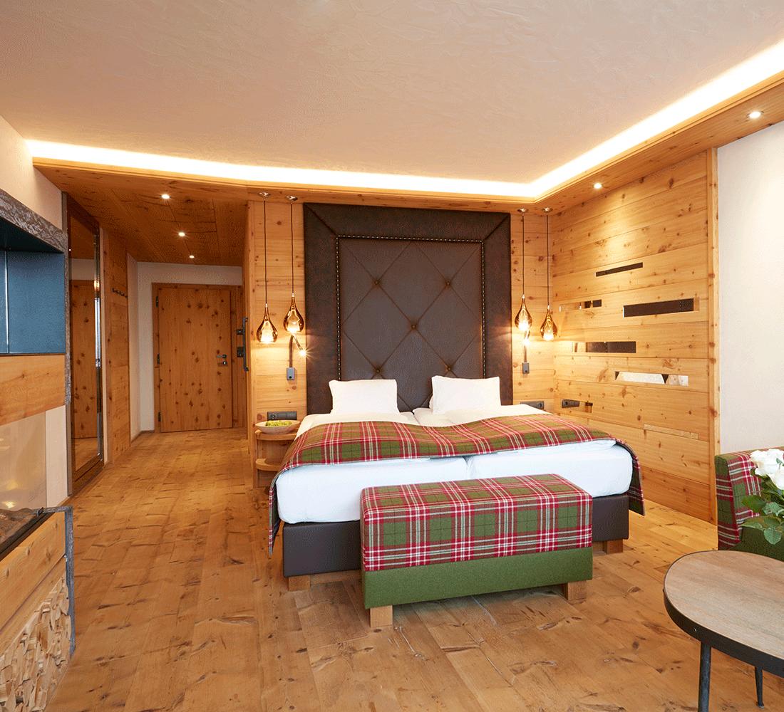 Wohnkomfortzimmer Traumblick im Wellnesshotel Alpbachtal Tirol Der Alpbacherhof