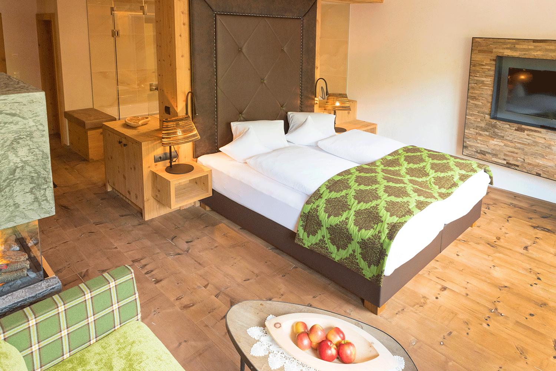 Wohnkomfortzimmer Juwel Zimmer im Wellnesshotel Alpbacherhof in Tirol