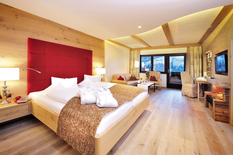 Wohnkomfortzimmer Panorama im Wellnesshotel Alpbacherhof in Tirol