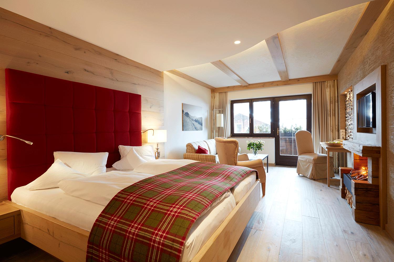 Wohnkomfortzimmer Romantik 1 im Wellnesshotel Alpbacherhof in Tirol