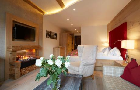 Wohnkomfortzimmer Romantik im Wellnesshotel Alpbacherhof in Tirol