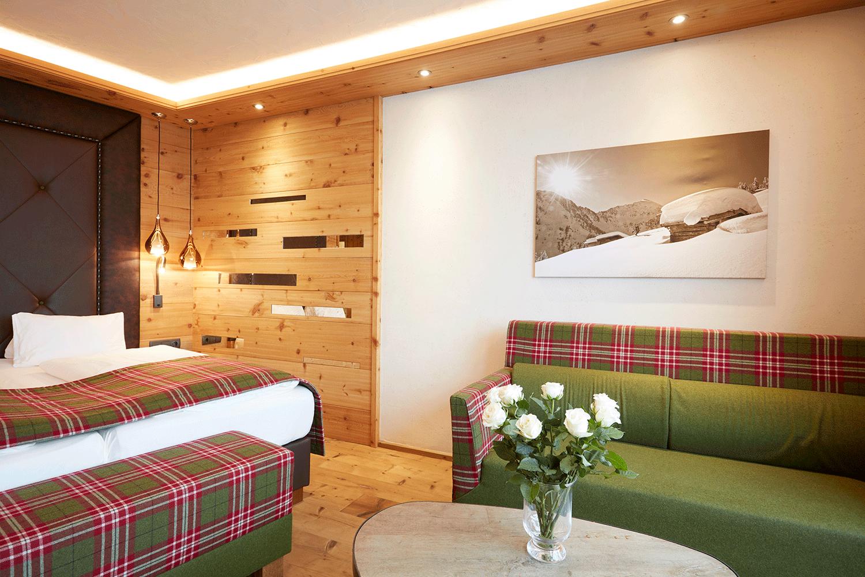 Wohnkomfortzimmer Traumblick Detail im Wellnesshotel Alpbachtal in Tirol