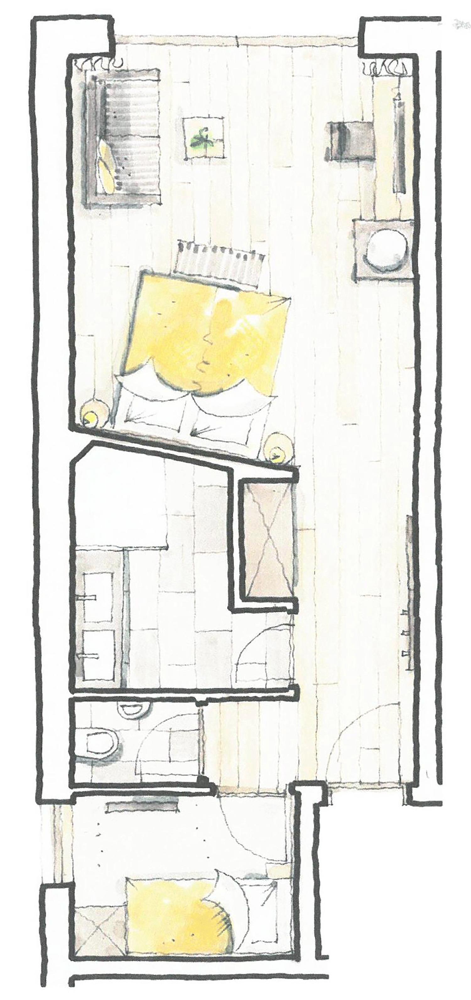 Wohnkomfortzimmer Traumblick mit Einzelzimmer Grundriss im Wellnesshotel Alpbacherhof in Tirol