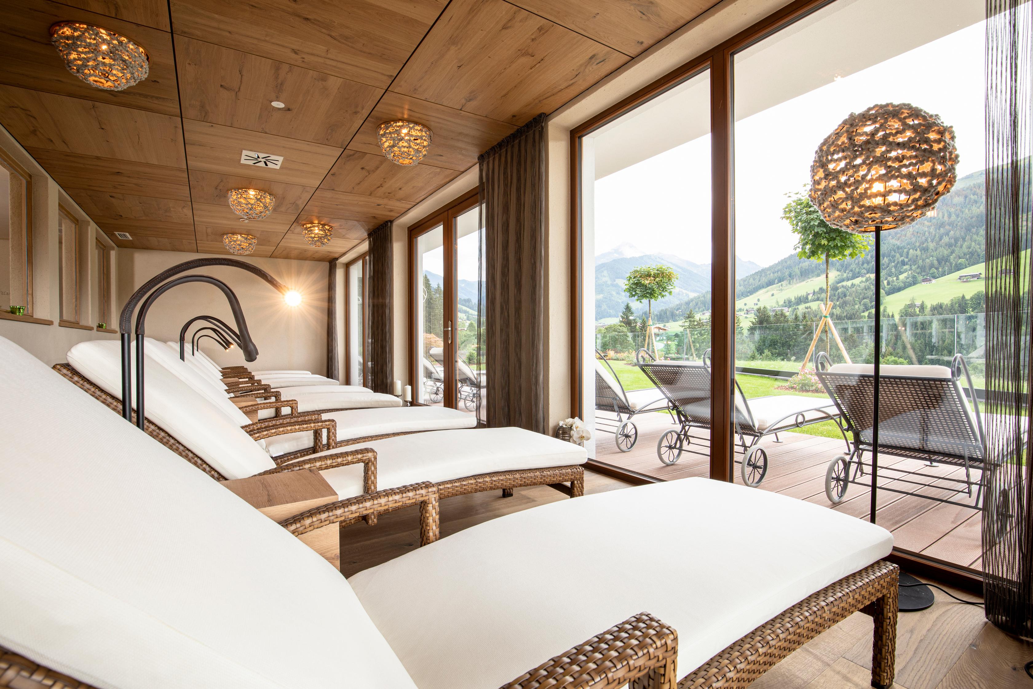 Panoramaruheraum Alpbacherhof Naturhotel in den Kitzbühler Alpen