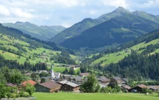 Ausblick auf das Dorf im Urlaub Alpbachtal