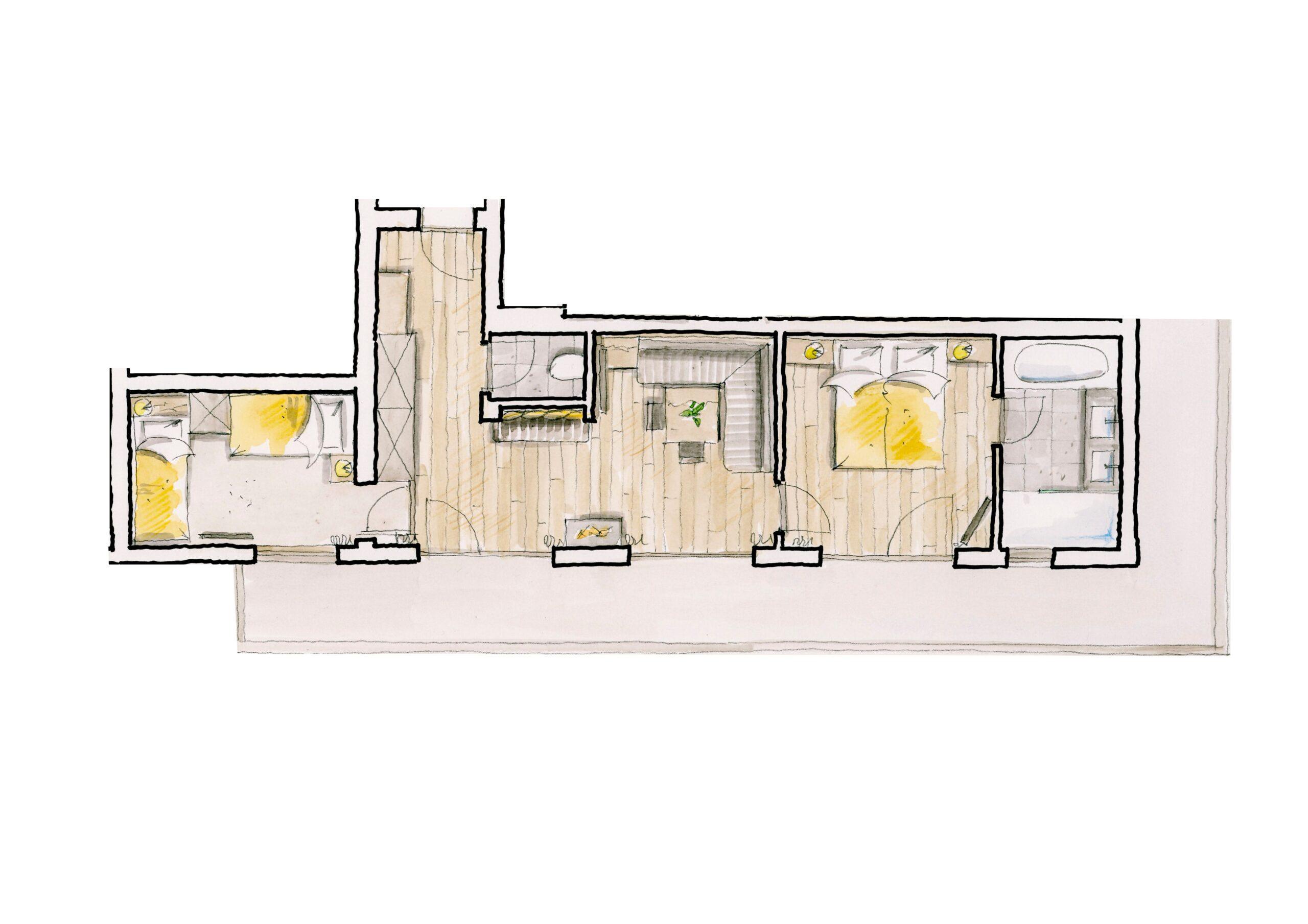 Familiensuite Panorama mit herrlichem Ausblick im Naturhotel Alpbach ab Sommer 2021
