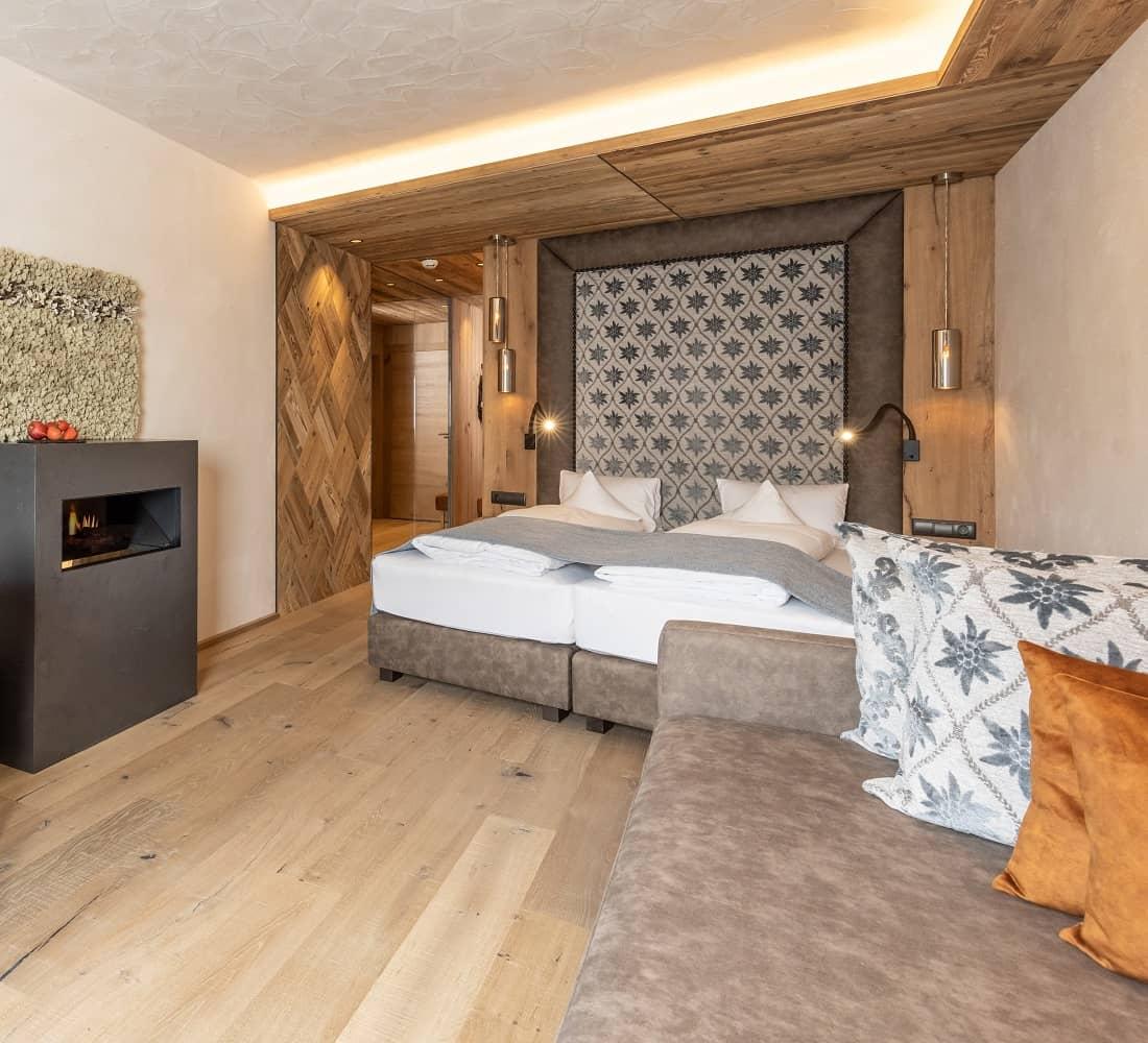 Wohnkomfortzimmer Naturblick im Wellnesshotel Tirol