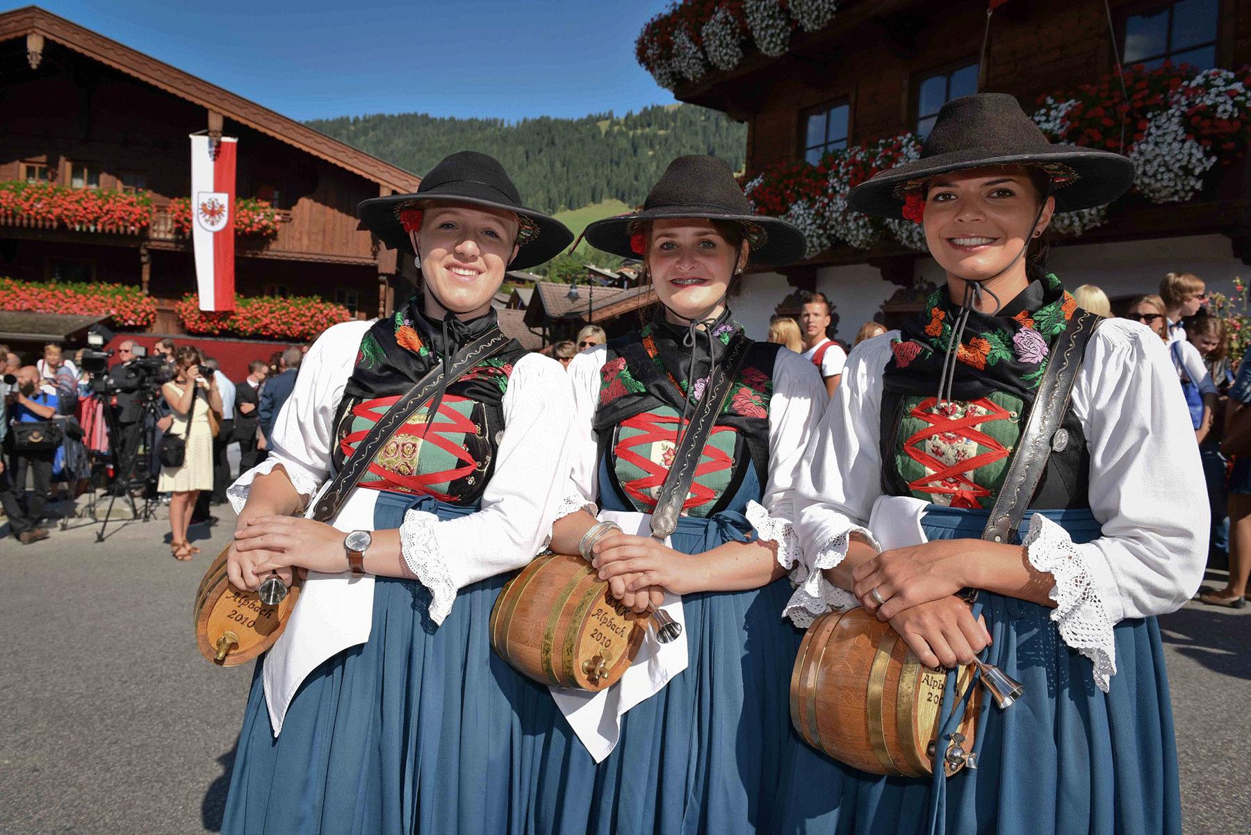 Alpbacher Dorffest im Sommerurlaub in Alpbach im Alpbachtal erleben