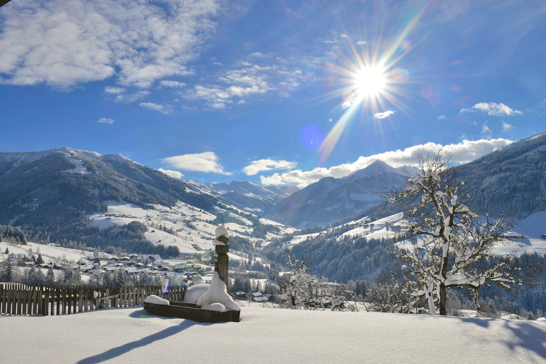 Bischofen im Winter Winterurlaub Skigebiet Juwel