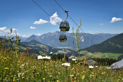 Gondel Wiedersbergerhorn im Sommerurlaub Alpbach