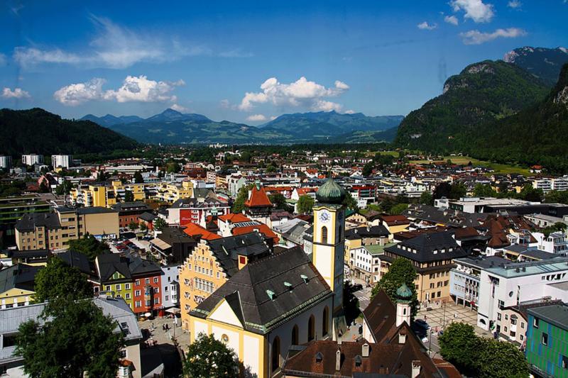 Kufstein von oben Kurzurlaub Tirol