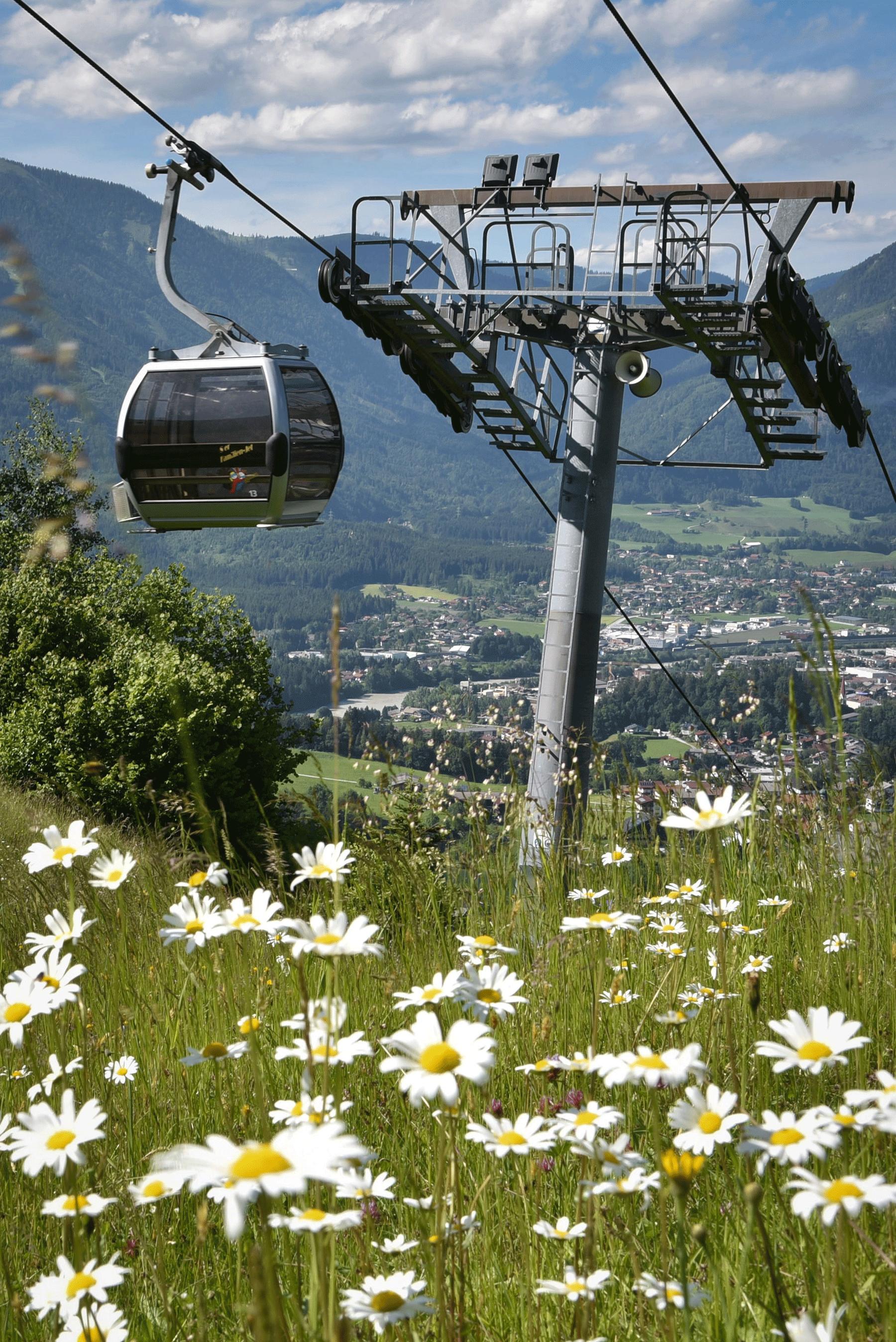Reitherkogelbahn im Sommer Urlaub Alpachtal
