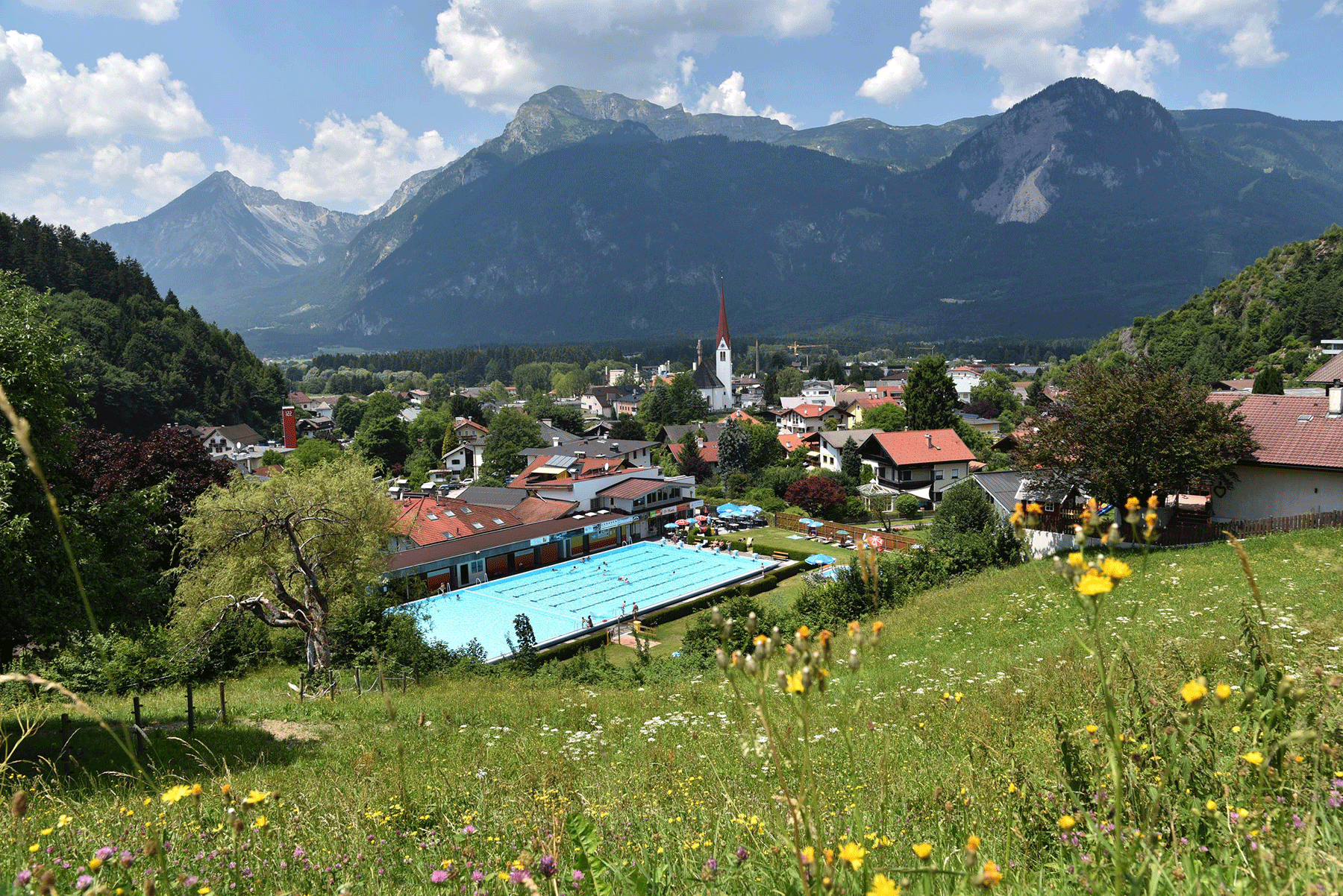 Schwimmbad Brixlegg beim Sommerurlaub Alpbach