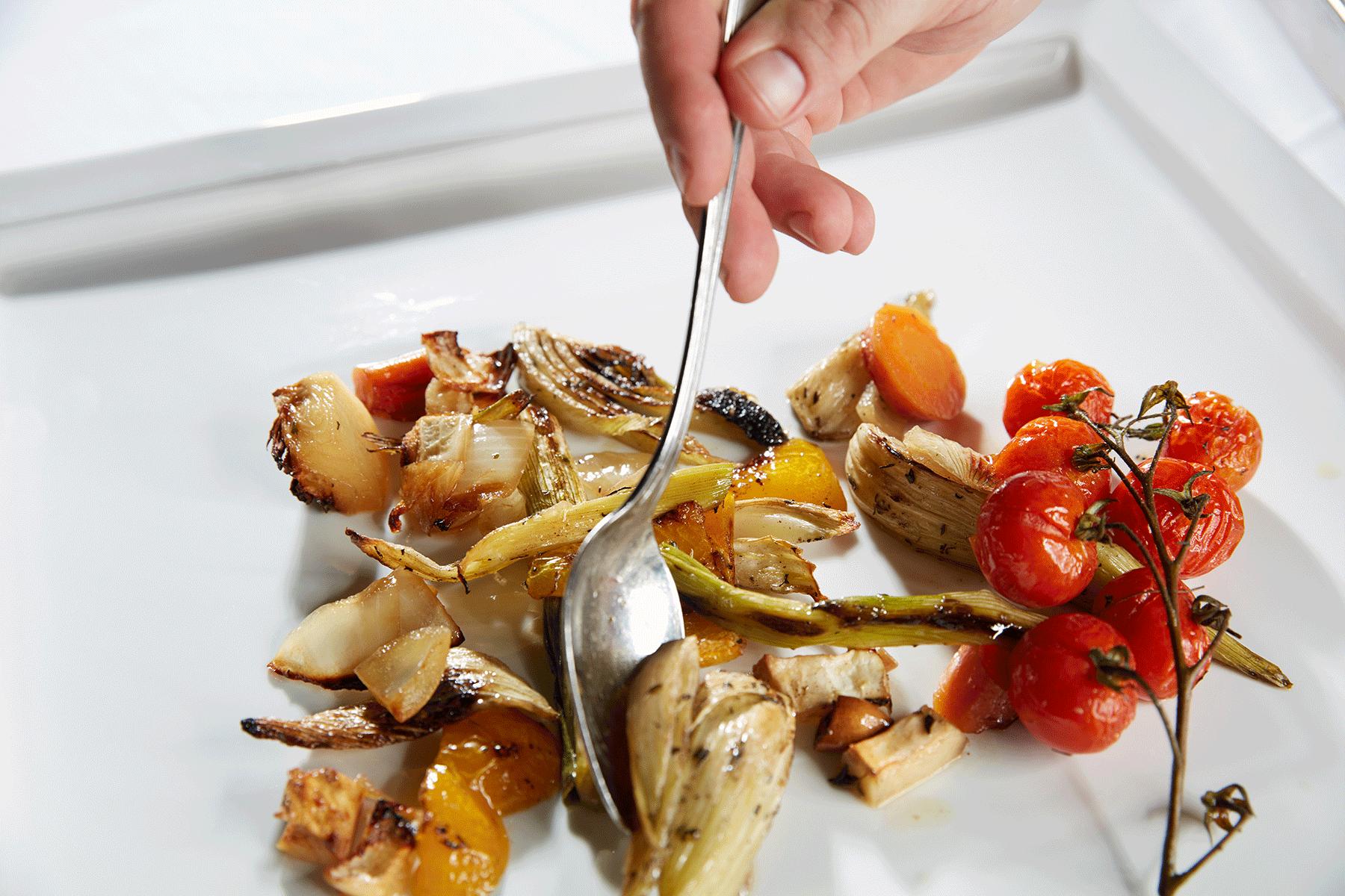 Ein Gemüseallerlei auf dem Teller im 4 Sterne Hotel Tirol
