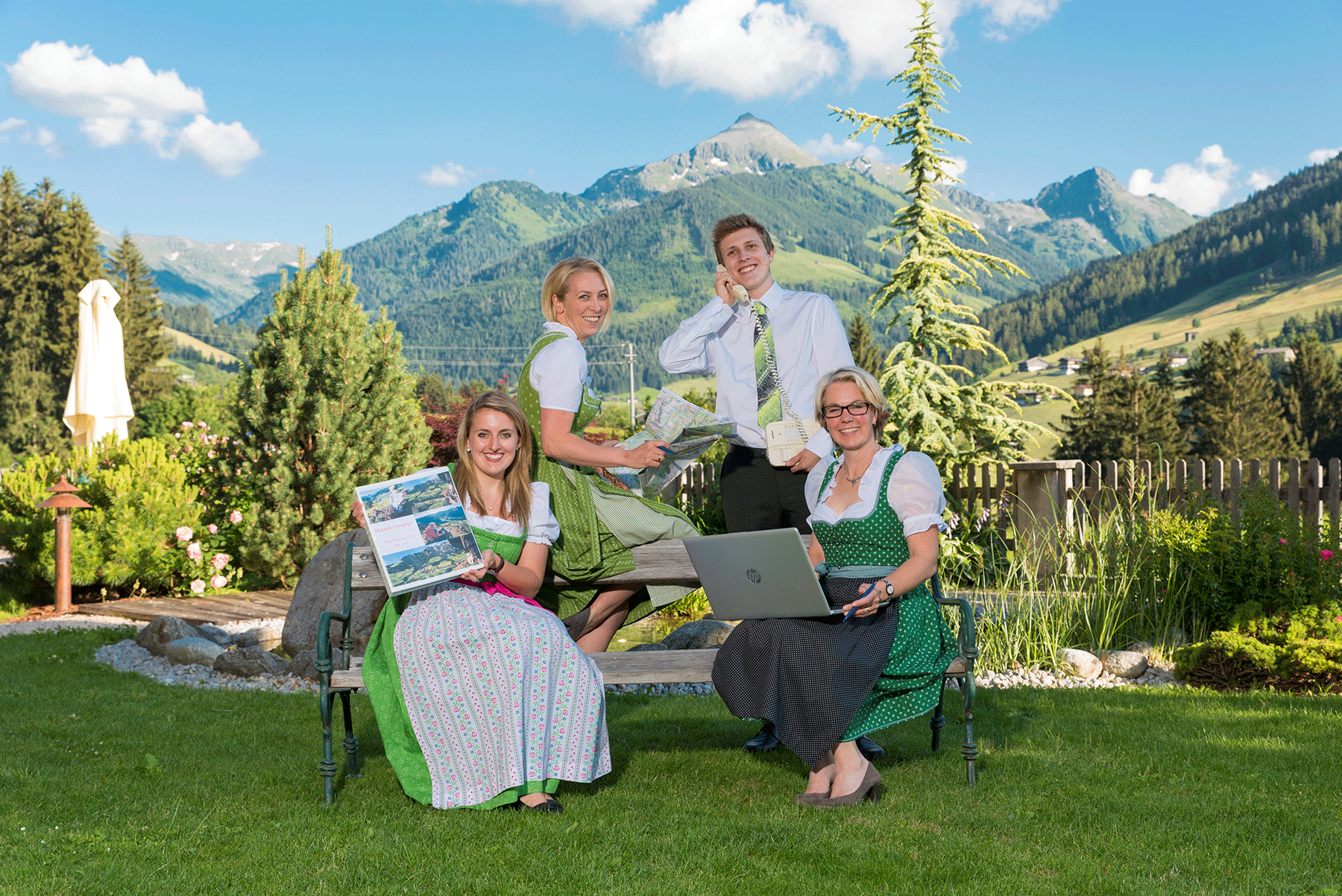 Team Rezeption Hotel Alpbachtal